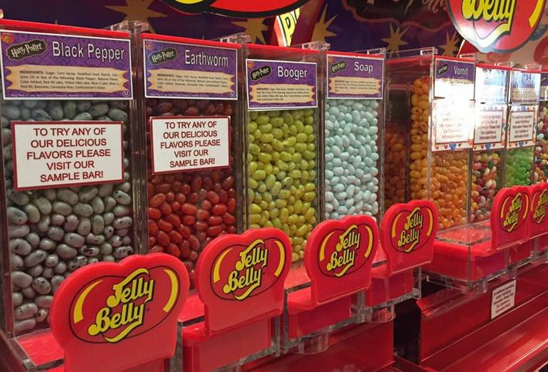 Jelly Belly Factory Tour Flavors