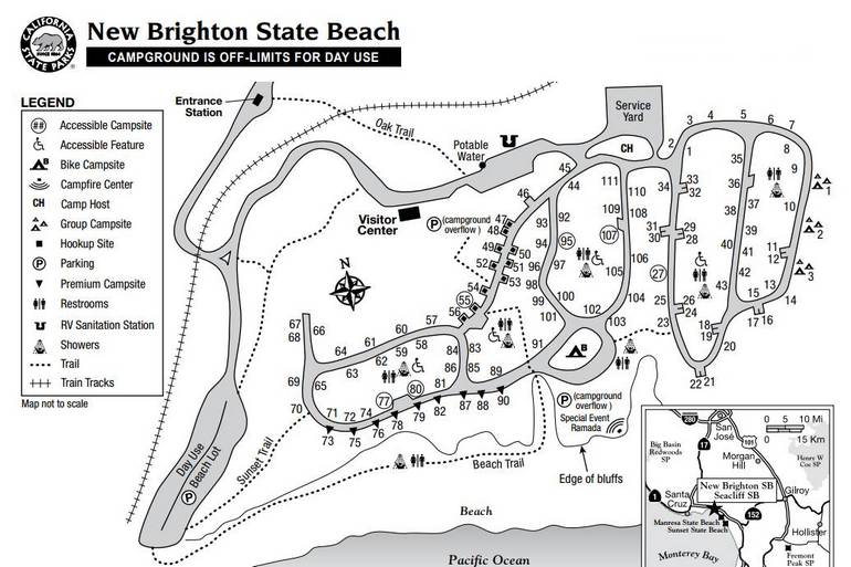 New Brighton State Beach Campground Map