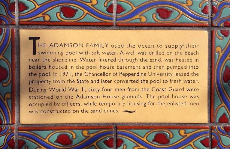 Adamson House Malibu Beach California