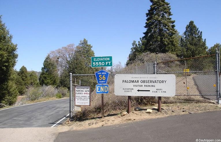 Palomar Mountain Observatory Entrance