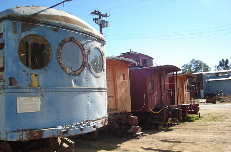 Historic trolley cars Orange Empire Museum