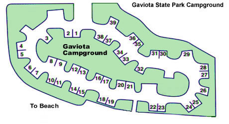 Gaviota State Park Campground Map