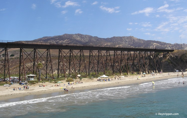 Gaviota State Park Beach Train Trestle