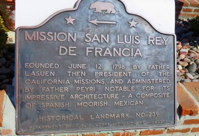 Mission San Luis Rey Historical Landmark No. 239