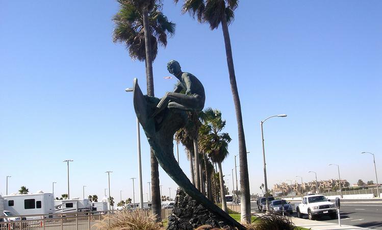Nude Dude Statue Huntington Beach