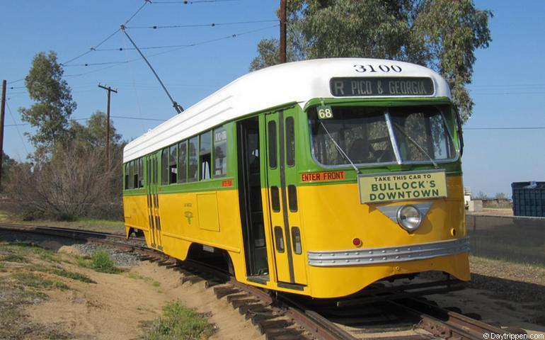 Early Los Angeles streetcar Orange Empire Museum