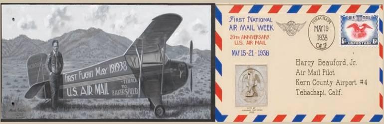 Airmail Mural Tehachapi