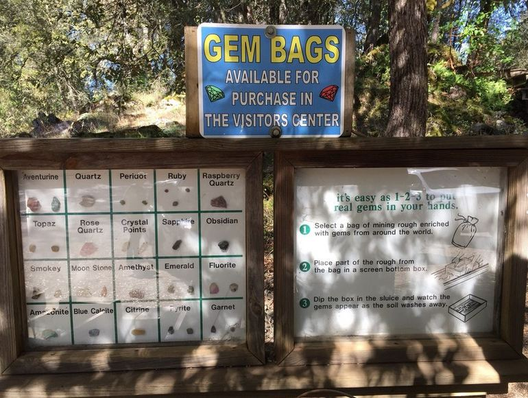 Gem Bags at the Visitor Center