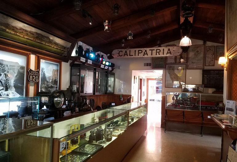 Inside the Lomita Railroad Museum