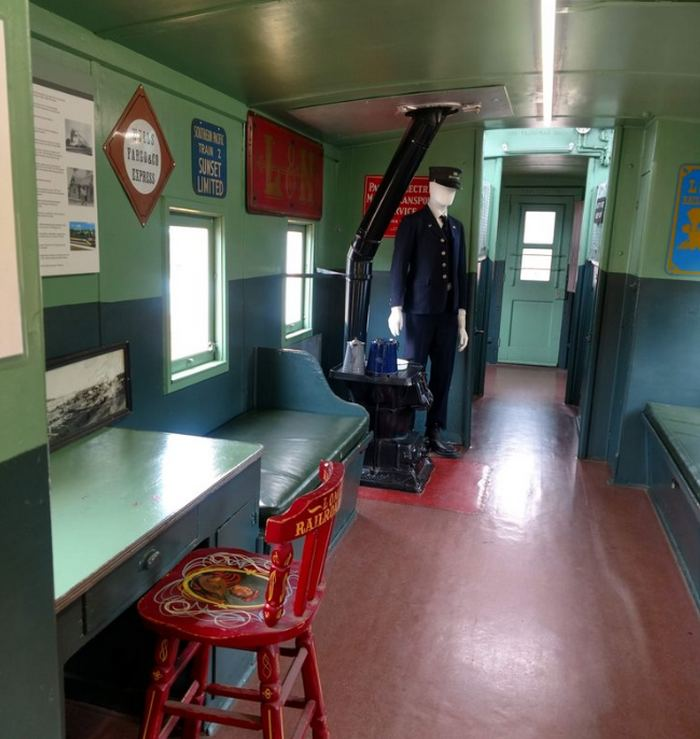 Lomita Railroad Museum Caboose Interior