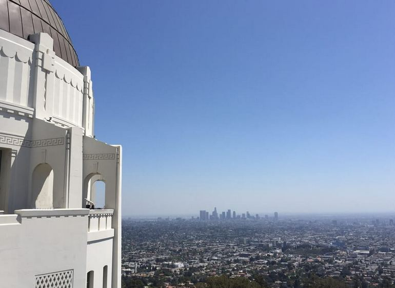 Downtown Los Angeles View From the Terrace