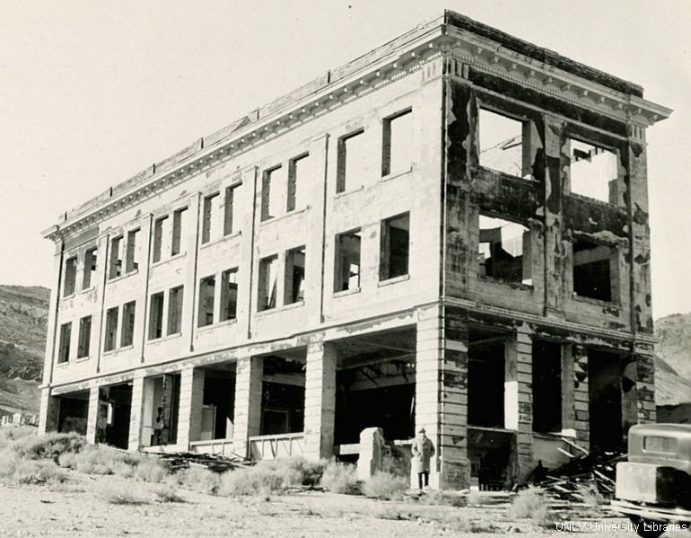 Rhyolite Bank Building 1923