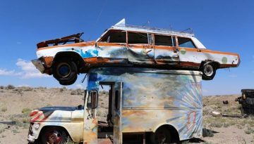 Junk Car Forest Goldfield Nevada