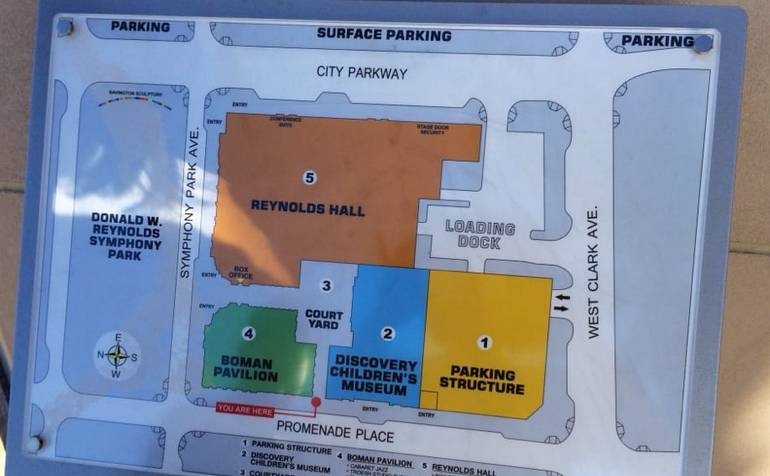 Discovery Children's Museum Las Vegas Map