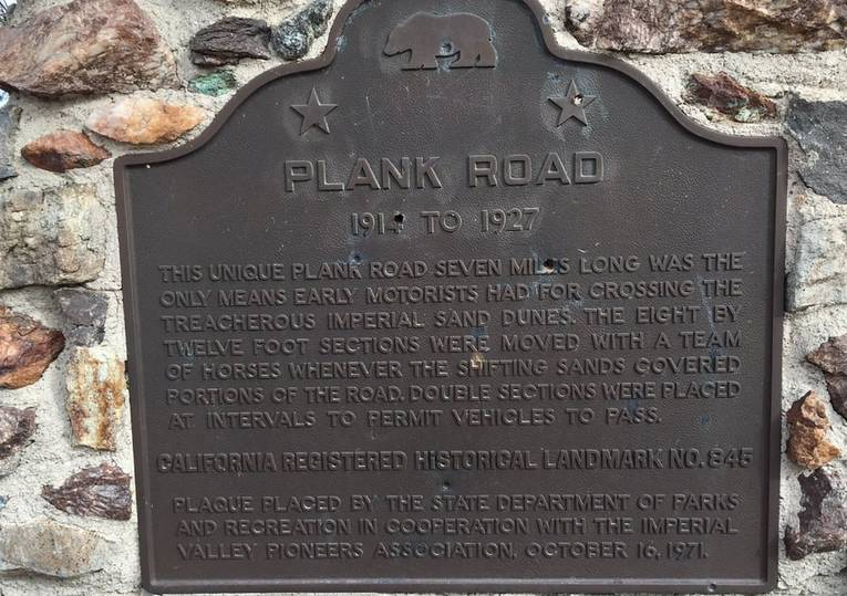 Old Plank Road Monument