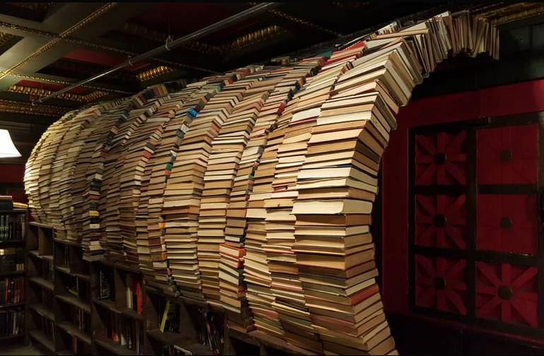 Last Bookstore Downtown Los Angeles Book Tunnel