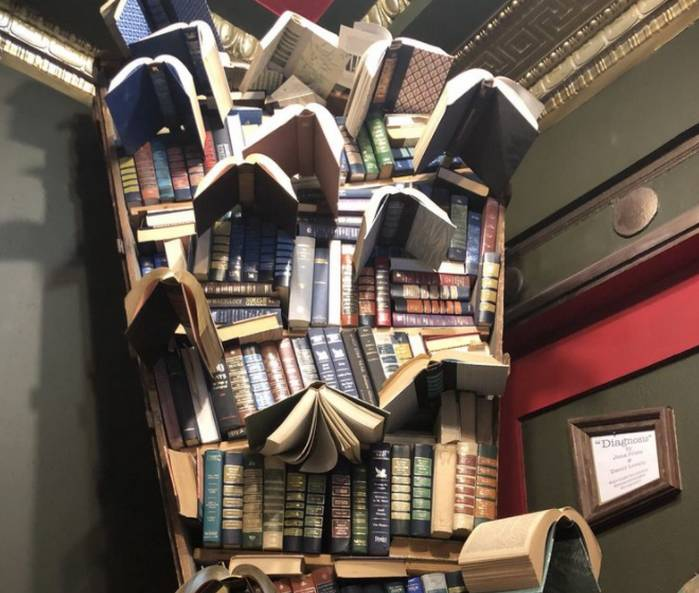 Last Bookstore Downtown Los Angeles Flying Books Art
