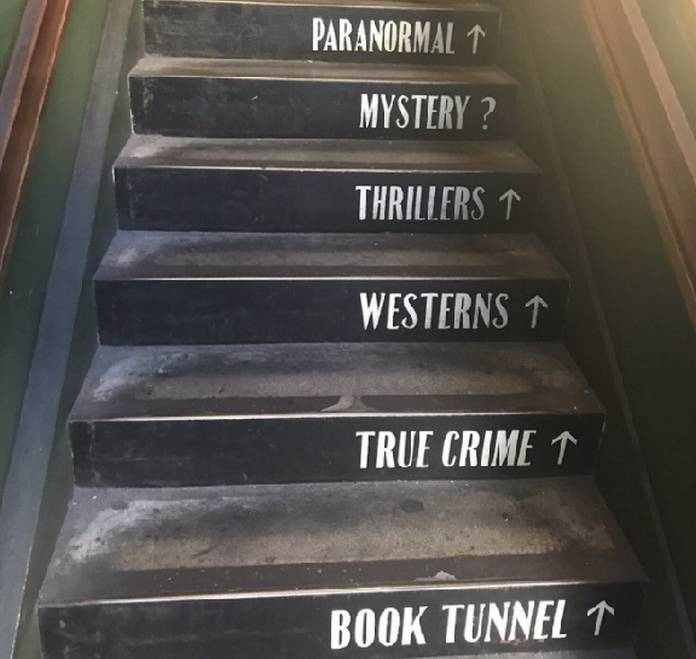 Last Bookstore Downtown Los Angeles Stairs