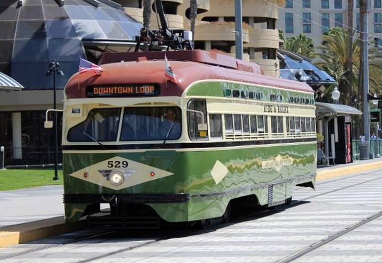 San Diego Vintage Trolley Car