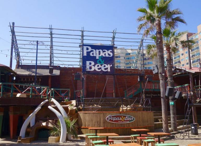 Papas and Beer Rosarito Beach Baja Mexico