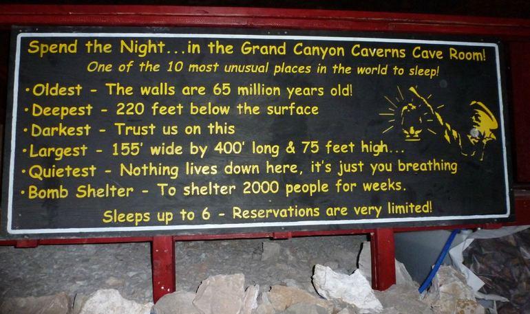 Grand Canyon Caverns Sign