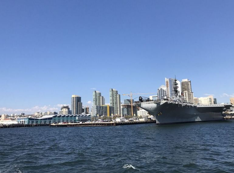 USS Midway From the San Diego Bay